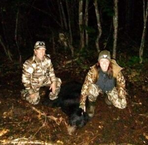 Staci and I after the successful bear hunt